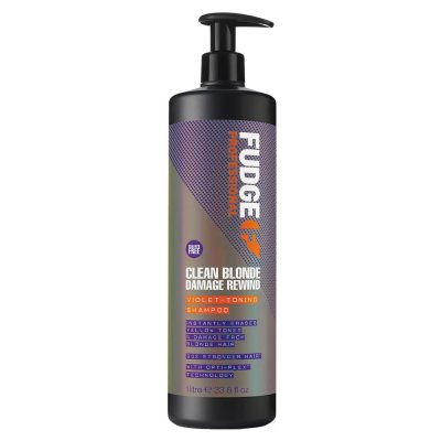 Fudge Clean Blonde Damage Rewind Violet Toning Shampoo 1000ml