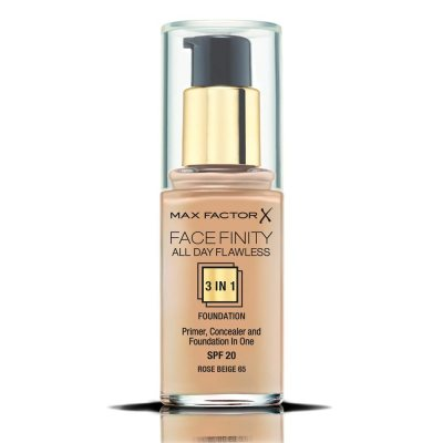 Max Factor Facefinity All Day Flawless 3 In 1 Foundation 65 Rose Beige 30ml